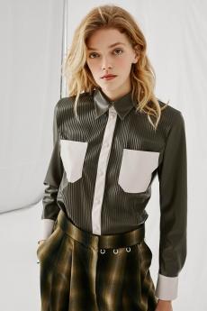 Camicia in Eco-Pelle