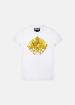 Versace Jeans Couture t-shirt con motivo Rococo con cristalli
