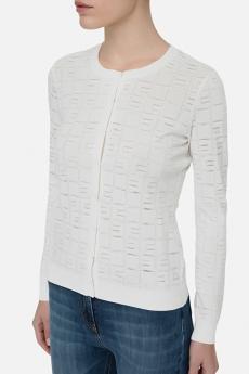 Elisabetta Franchi Maglia tricot  stampa logo