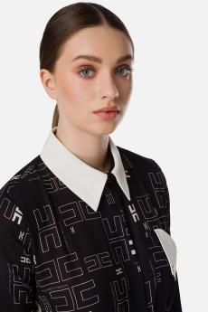 Camicia in georgette bicolor