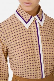 Camicia in georgette di viscosa