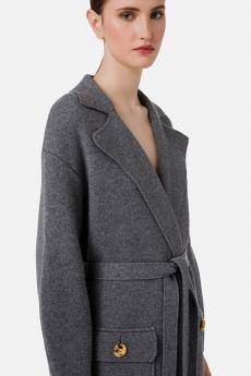 Cappotto tricot con cintura