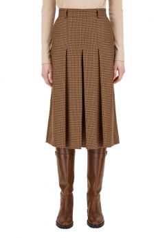 Pantaloni in batavia di lana ABBONO